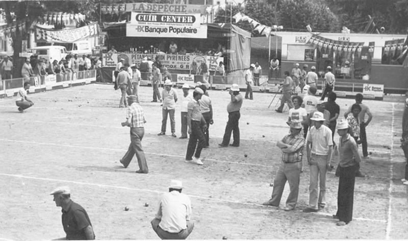 Concours national pétanque à Toulouse (banque populaire 1981)