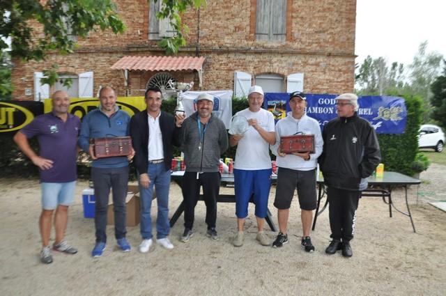 les co-vainqueurs du Pétank-Golf