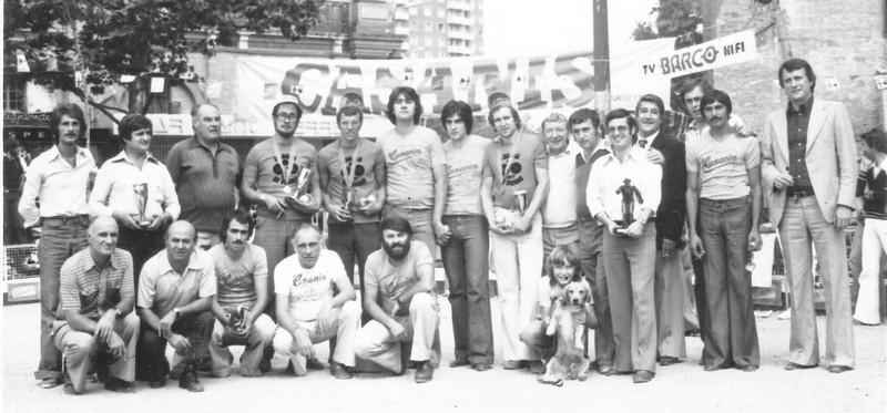 Les finalistes du concours triplettes 3 jours de St-Pierre Toulouse en 1977