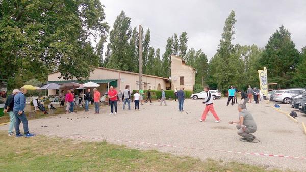 Vue générale du Pétankodrome du golf des Aiguillons à Montauban