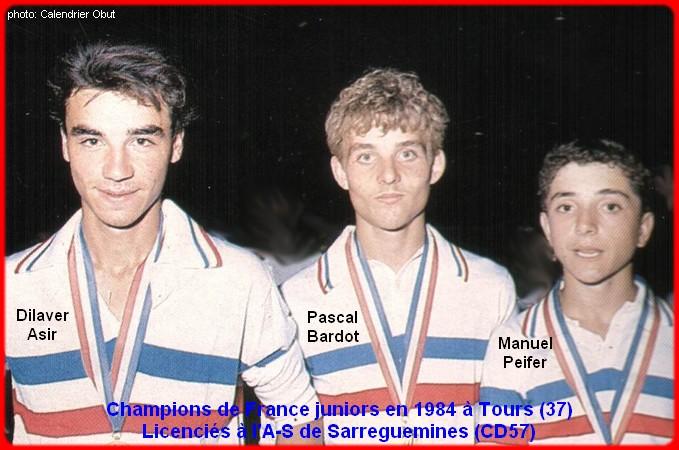 Champions de France pétanque triplettes juniors en 1984