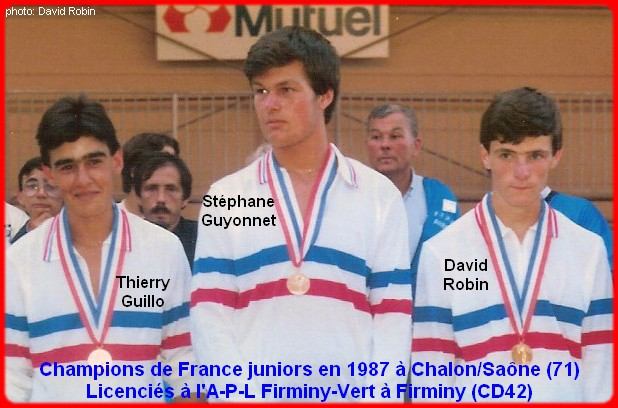 Champions de France pétanque triplettes juniors en 1987