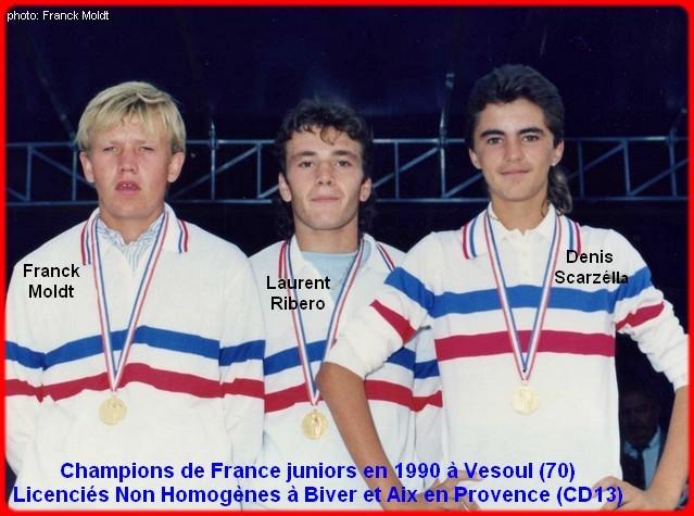 Champions de France pétanque juniors triplettes 1990