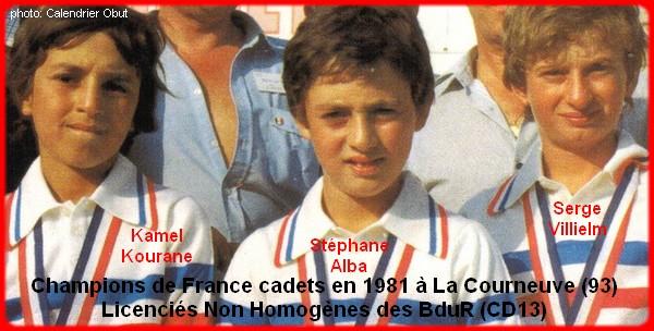 Champions de France pétanque triplettes cadets 1981