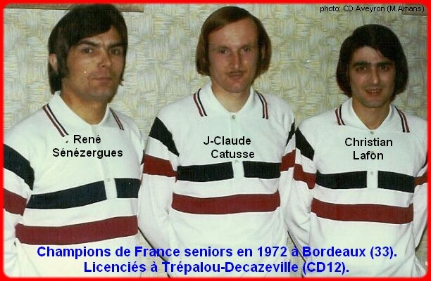 champions de France triplettes seniors pétanque 1972