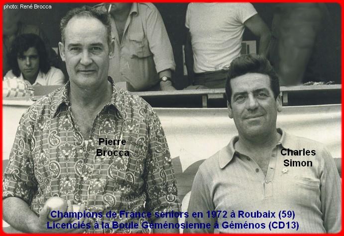 champions de France doublettes seniors pétanque 1972