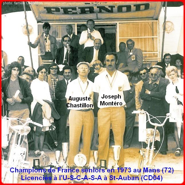 champions de France doublettes seniors pétanque 1973