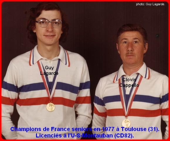 champions de France doublettes seniors pétanque 1977