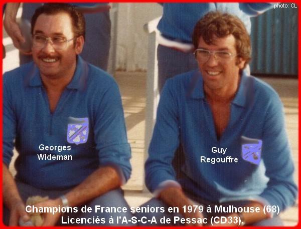 champions de France doublettes seniors pétanque 1979