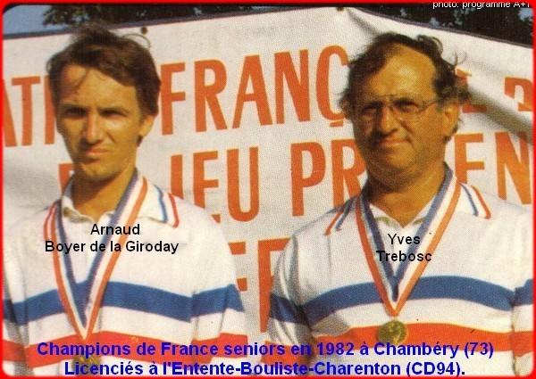 champions de France doublettes seniors pétanque 1982