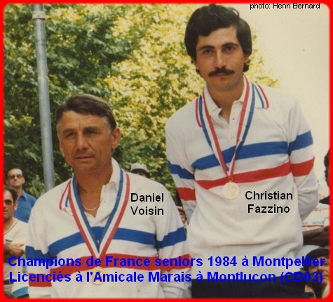 champions de France doublettes seniors pétanque 1984