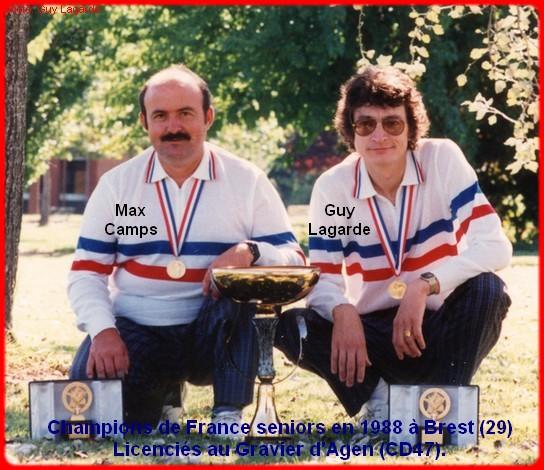 champions de France doublettes seniors pétanque 1988