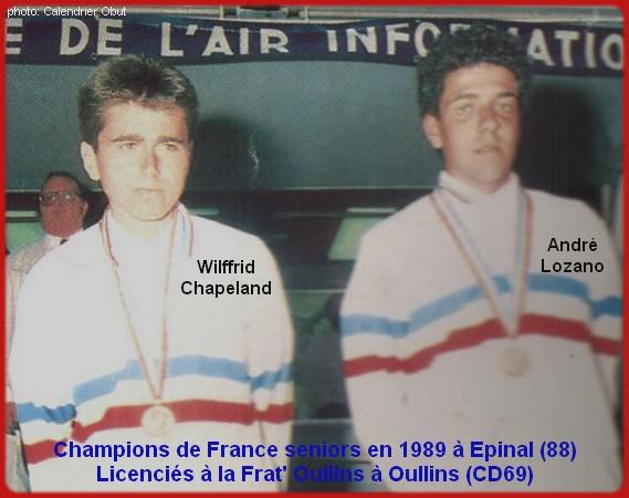 champions de France doublettes seniors pétanque 1989