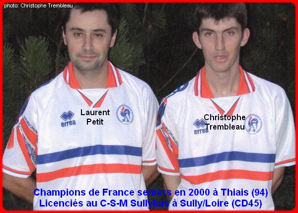 champions de France doublettes seniors pétanque 2000