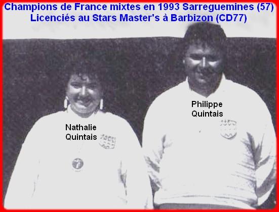 Champions de france pétanque doublettes mixtes en 1993