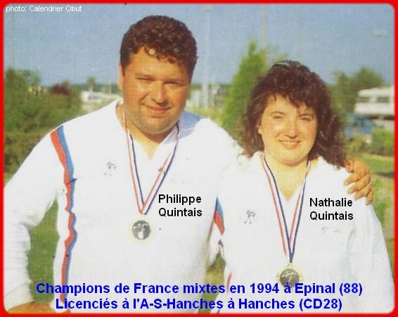 Champions de France mixtes doublettes 1994