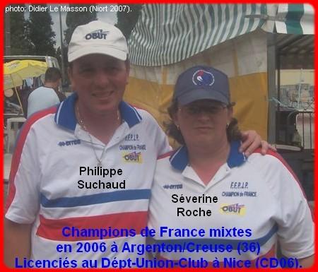 Champions de France pétanque mixtes doublettes en 2006