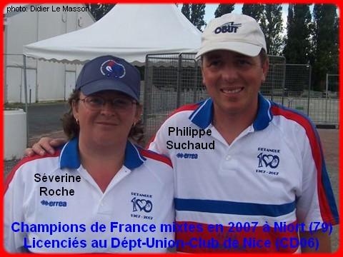 champions de France pétanque mixtes doublettes en 2007