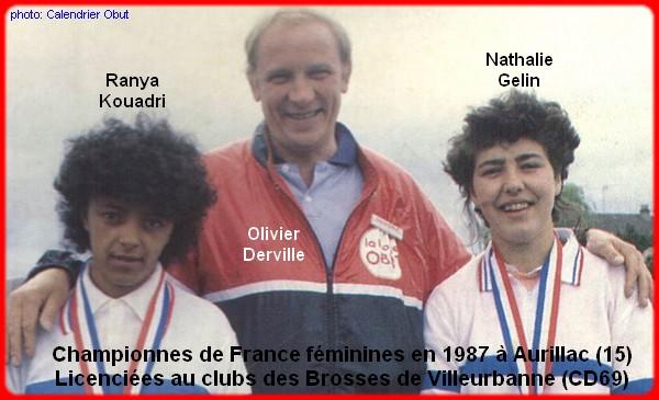Championnes de France pétanque doublettes féminines en 1987
