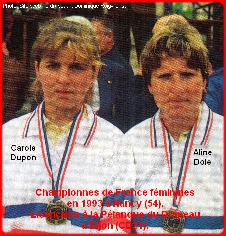 Championnes de France pétanque doublettes féminines en 1993