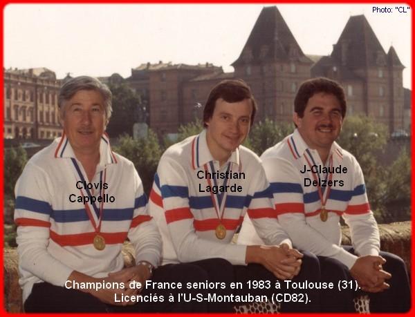 champions de France triplettes seniors pétanque 1983