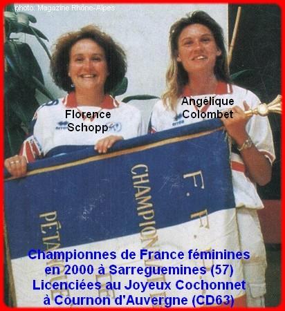 Championnes de France pétanque doublettes féminines en 2000