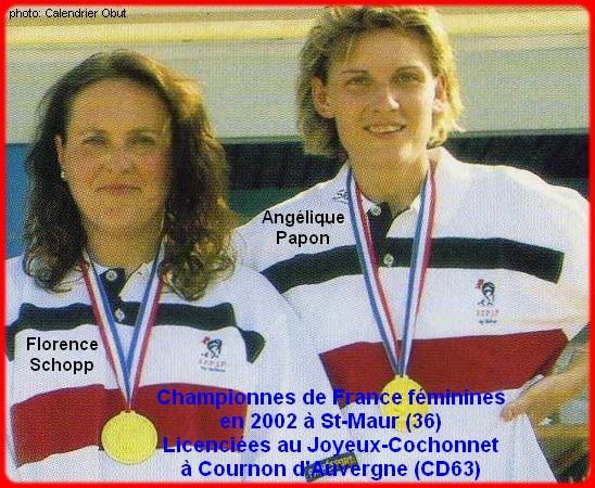 Championnes de France pétanque doublettes féminines en 2002