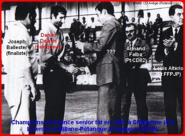 Champion de France pétanque senior tête-à-tête 1967