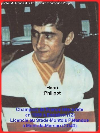 Champion de France pétanque senior tête-à-tête 1968