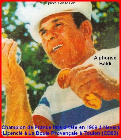 Champion de France pétanque senior tête-à-tête 1969