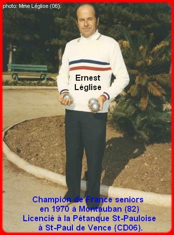 Champion de France pétanque senior tête-à-tête 1970