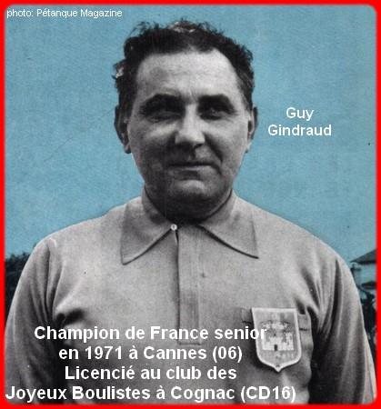 Champion de France pétanque senior tête-à-tête 1971