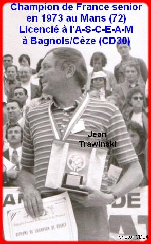 Champion de France pétanque senior tête-à-tête 1973