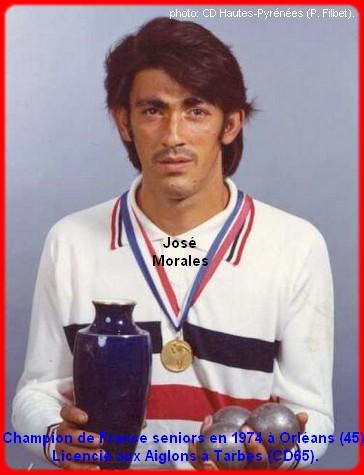 Champion de France pétanque senior tête-à-tête 1974