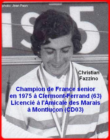 Champion de France pétanque senior tête-à-tête 1975