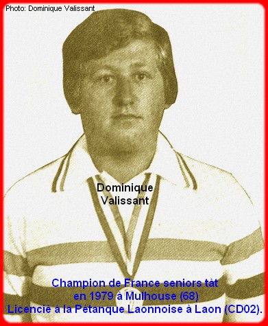 Champion de France pétanque senior tête-à-tête 1979