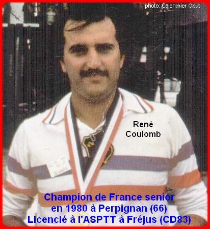 Champion de France pétanque senior tête-à-tête 1980