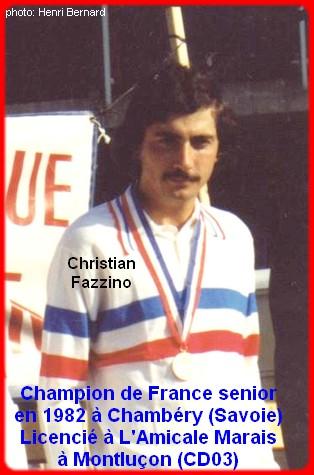 Champion de France pétanque senior tête-à-tête 1982