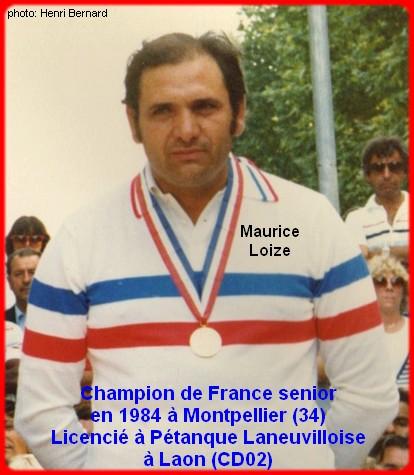Champion de France pétanque senior tête-à-tête 1984