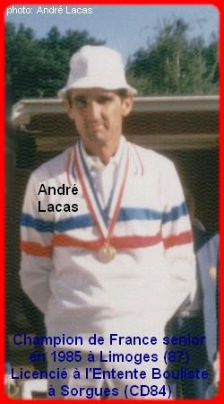 Champion de France pétanque senior tête-à-tête 1985