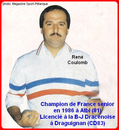Champion de France pétanque senior tête-à-tête 1986