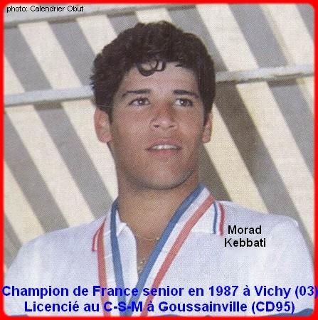 Champion de France pétanque senior tête-à-tête 1987