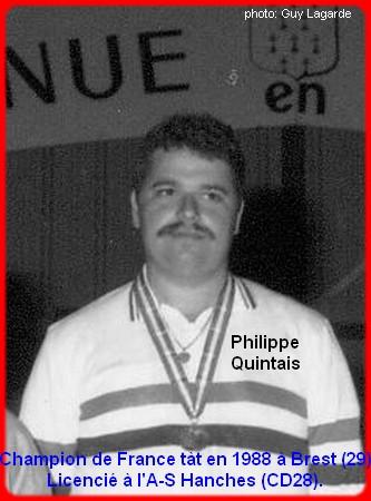 Champion de France pétanque senior tête-à-tête 1988