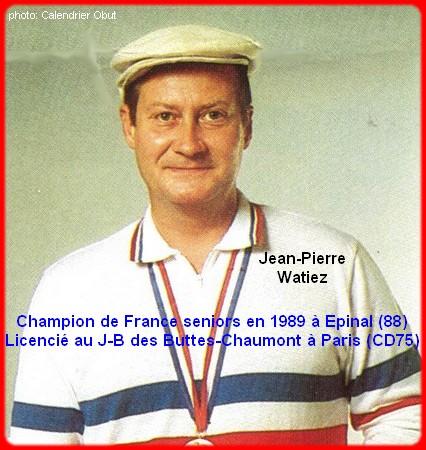 Champion de France pétanque senior tête-à-tête 1989