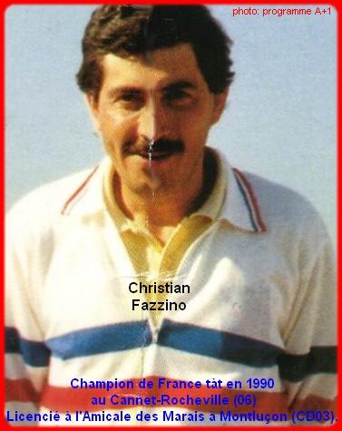 Champion de France pétanque senior tête-à-tête 1990