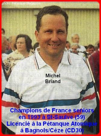 Champion de France pétanque senior tête-à-tête 1993