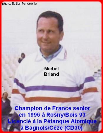 Champion de France pétanque senior tête-à-tête 1996