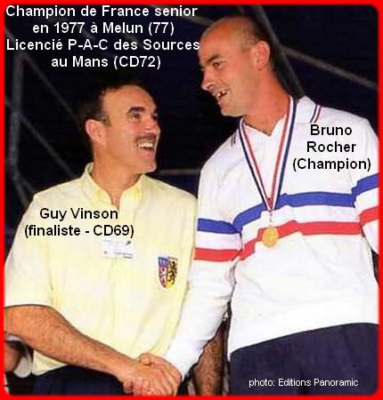 Champion de France pétanque senior tête-à-tête 1997