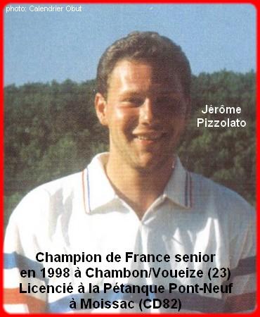 Champion de France pétanque senior tête-à-tête 1998