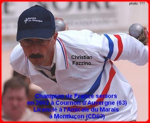 Champion de France pétanque senior tête-à-tête 2002